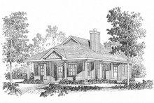Cottage Exterior - Front Elevation Plan #22-569