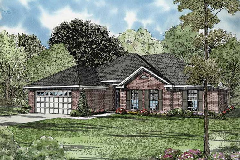 Ranch Exterior - Front Elevation Plan #17-3245