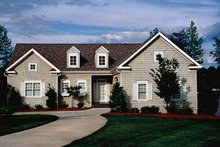 Architectural House Design - Country Exterior - Front Elevation Plan #453-446