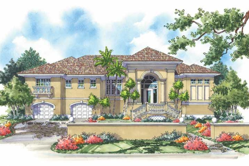 Mediterranean Exterior - Front Elevation Plan #930-150 - Houseplans.com