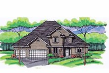 Colonial Exterior - Front Elevation Plan #51-1034