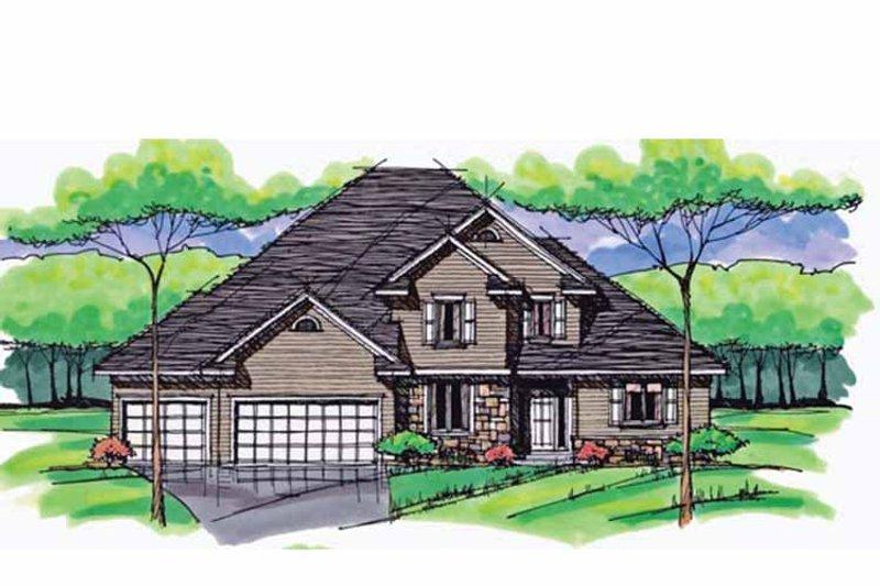 Colonial Exterior - Front Elevation Plan #51-1034 - Houseplans.com