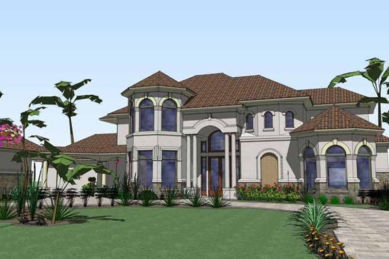 House Plan Design - Mediterranean Exterior - Front Elevation Plan #120-211