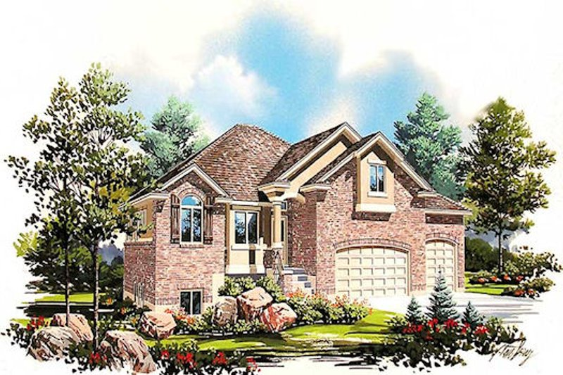 Dream House Plan - Traditional Exterior - Front Elevation Plan #5-379