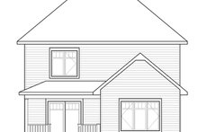 European Exterior - Rear Elevation Plan #23-2589