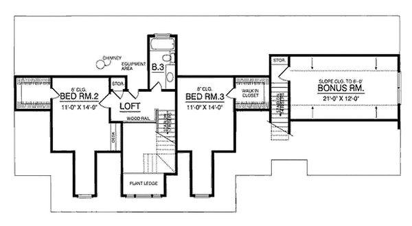 Country Floor Plan - Upper Floor Plan #40-370