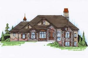 European Exterior - Front Elevation Plan #5-314