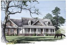 Architectural House Design - Classical Exterior - Front Elevation Plan #137-303