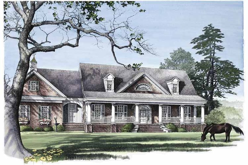 Classical Exterior - Front Elevation Plan #137-303 - Houseplans.com