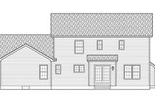 Classical Exterior - Rear Elevation Plan #1010-192