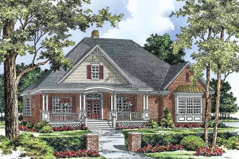 Ranch Exterior - Front Elevation Plan #929-758 - Houseplans.com