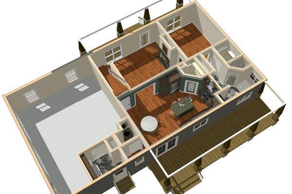 Country Floor Plan - Other Floor Plan Plan #44-197