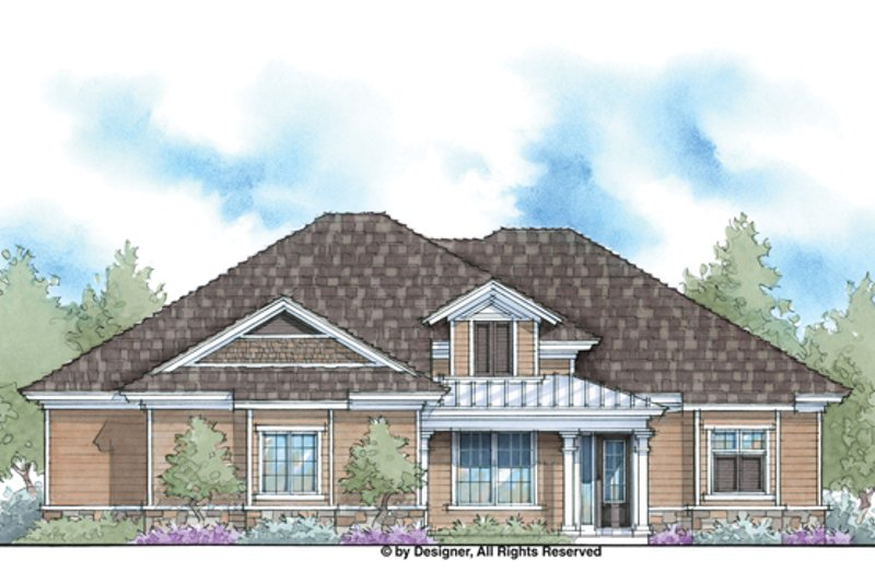 Ranch Exterior - Front Elevation Plan #938-74