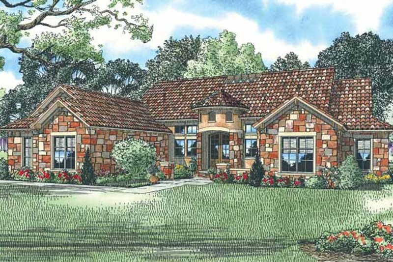 Dream House Plan - Country Exterior - Front Elevation Plan #17-2928