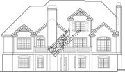 Country Style House Plan - 4 Beds 3 Baths 3254 Sq/Ft Plan #927-295 Exterior - Rear Elevation
