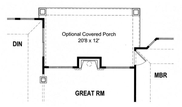 Craftsman Floor Plan - Other Floor Plan Plan #316-281