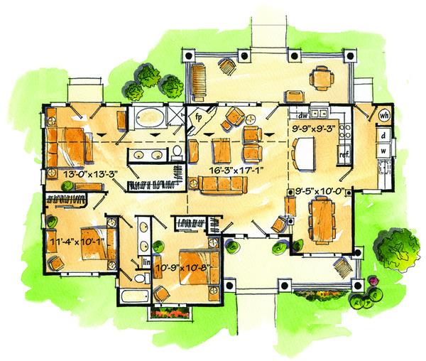 Dream House Plan - Country Floor Plan - Main Floor Plan #942-27