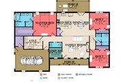 Ranch Style House Plan - 3 Beds 2 Baths 2042 Sq/Ft Plan #63-384 Floor Plan - Main Floor Plan
