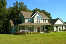 Architectural House Design - Country Photo Plan #11-206