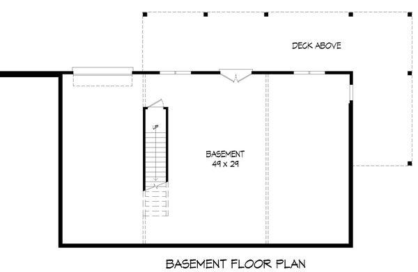 Country Floor Plan - Lower Floor Plan #932-361