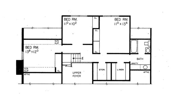 Floor Plan - Upper Floor Plan Plan #72-635