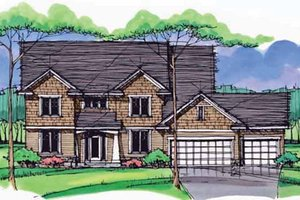 House Blueprint - Colonial Exterior - Front Elevation Plan #51-1007
