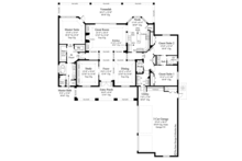 Mediterranean Floor Plan - Main Floor Plan Plan #930-464