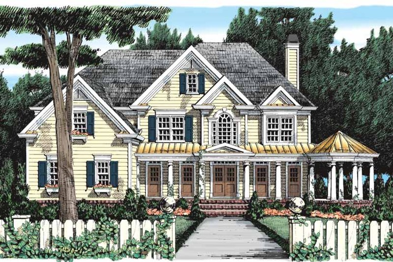 Colonial Exterior - Front Elevation Plan #927-393 - Houseplans.com