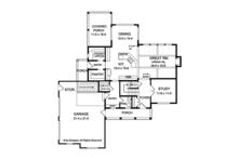 Traditional Floor Plan - Main Floor Plan Plan #1010-136