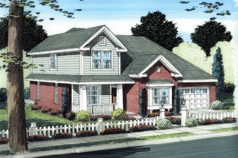 Traditional Exterior - Front Elevation Plan #513-2109 - Houseplans.com