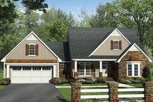 House Plan Design - European Exterior - Front Elevation Plan #21-439