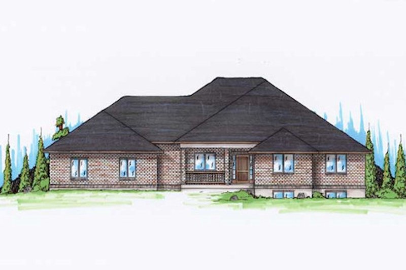 House Plan Design - Traditional Exterior - Front Elevation Plan #5-261