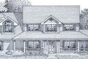 Country Style House Plan - 4 Beds 2.5 Baths 2354 Sq/Ft Plan #53-261 Exterior - Front Elevation