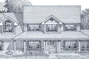 Country Exterior - Front Elevation Plan #53-261