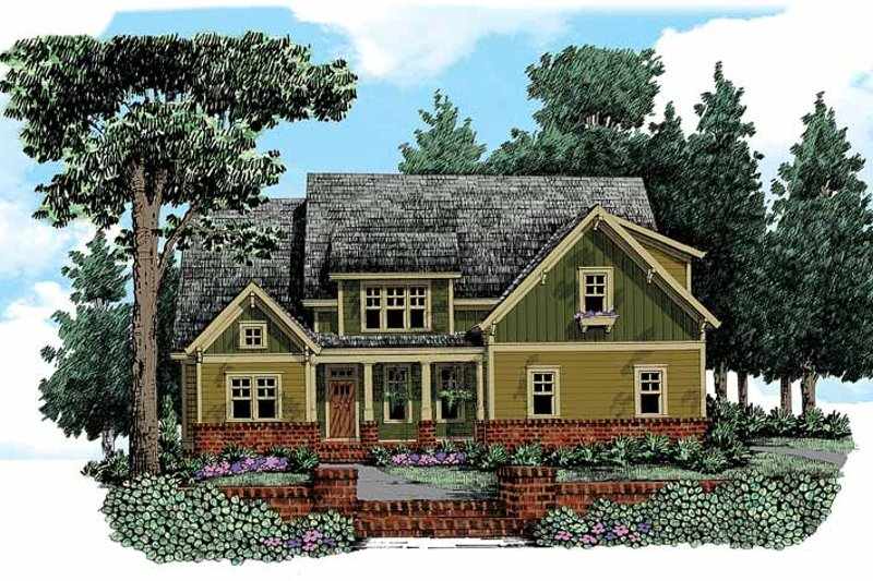 Craftsman Exterior - Front Elevation Plan #927-339