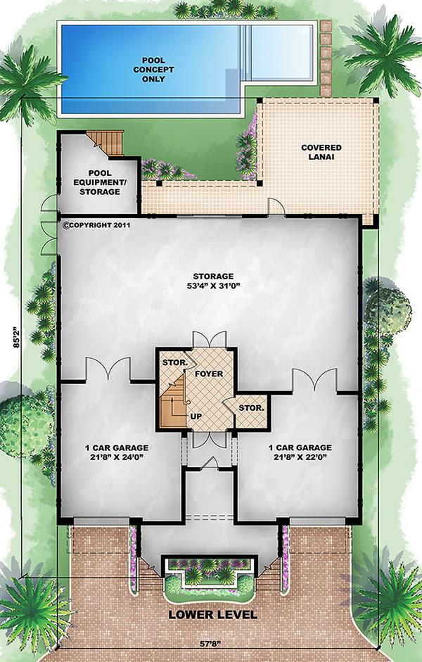 Beach Floor Plan - Main Floor Plan Plan #27-456