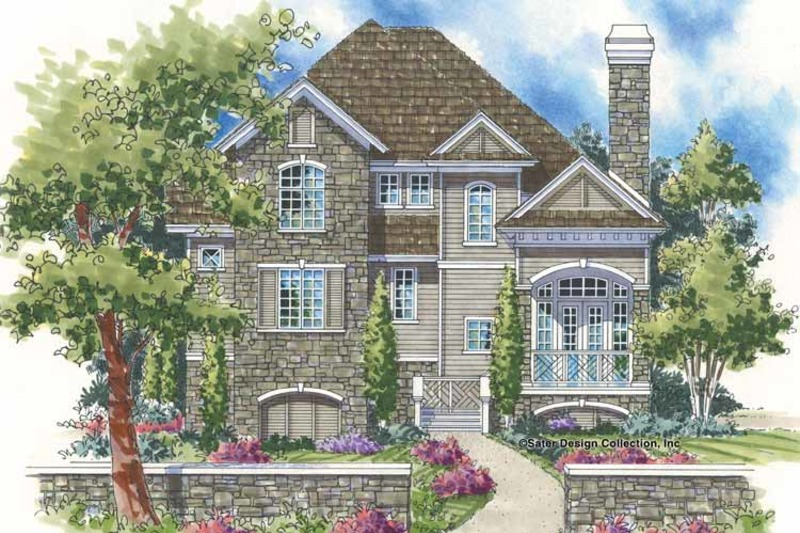 European Exterior - Front Elevation Plan #930-129 - Houseplans.com