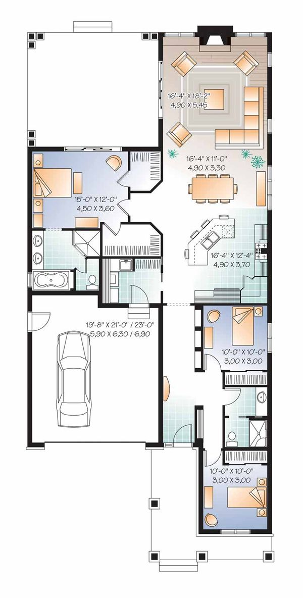 Traditional Floor Plan - Main Floor Plan Plan #23-2531
