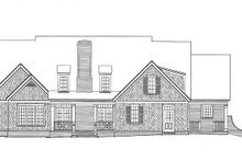 House Plan Design - Country Exterior - Rear Elevation Plan #429-338
