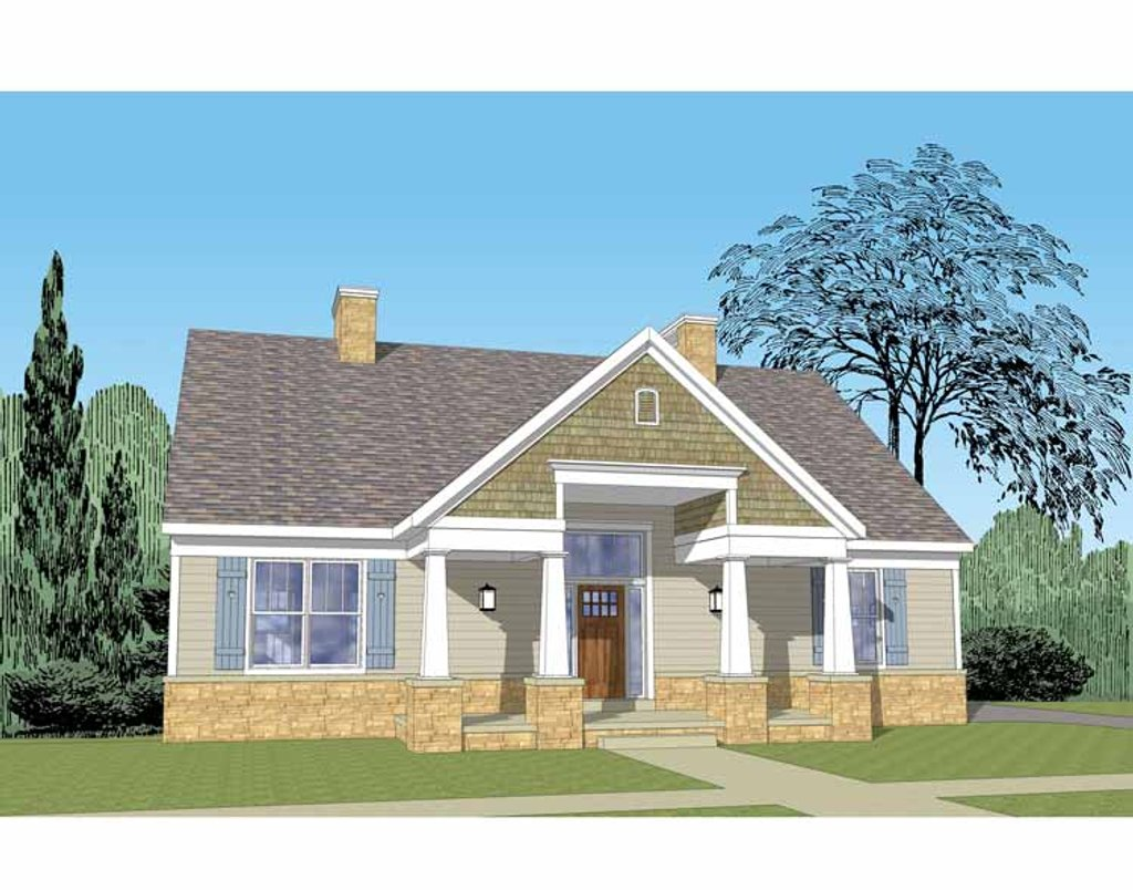 Craftsman style house plan 3 beds 2 5 baths 1852 sq ft for Homplans