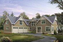 Architectural House Design - Craftsman Exterior - Front Elevation Plan #132-488