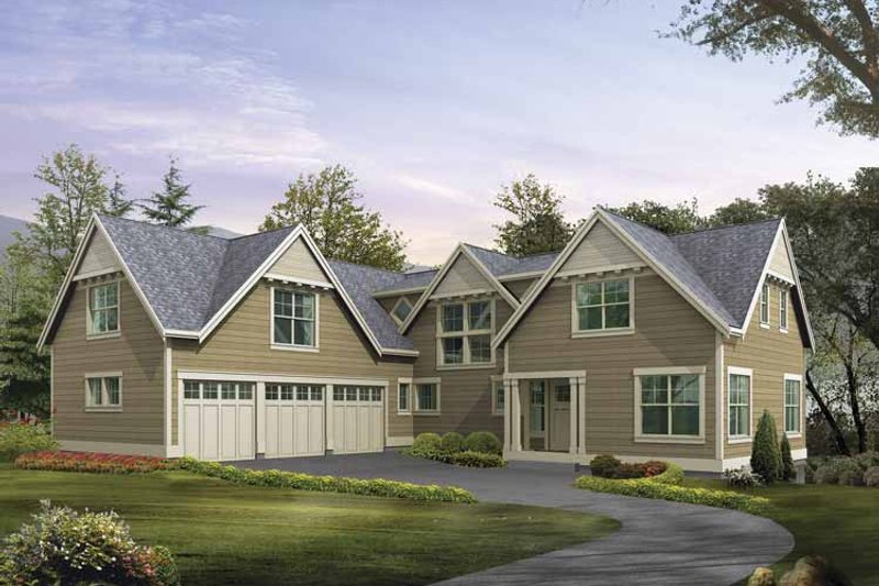 Craftsman Exterior - Front Elevation Plan #132-488