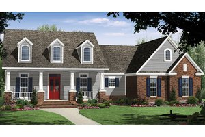 Ranch Exterior - Front Elevation Plan #21-435