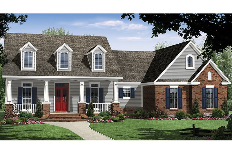 Architectural House Design - Ranch Exterior - Front Elevation Plan #21-435