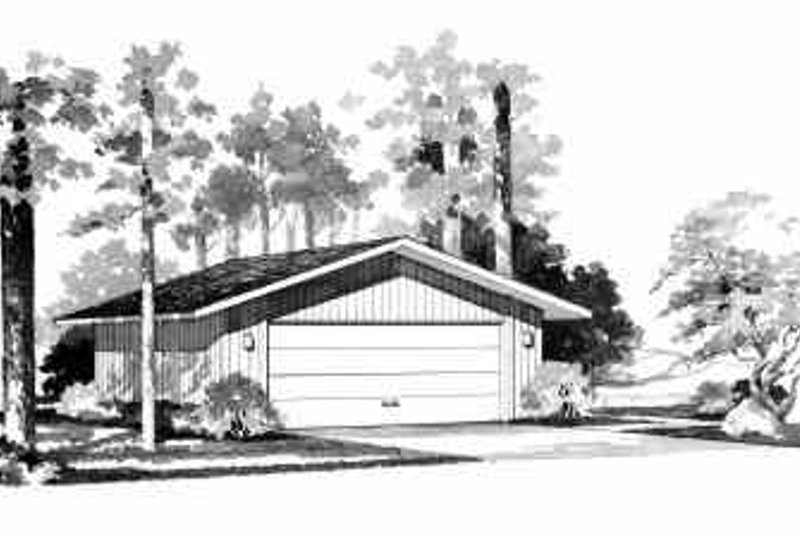 House Blueprint - Traditional Exterior - Front Elevation Plan #72-240