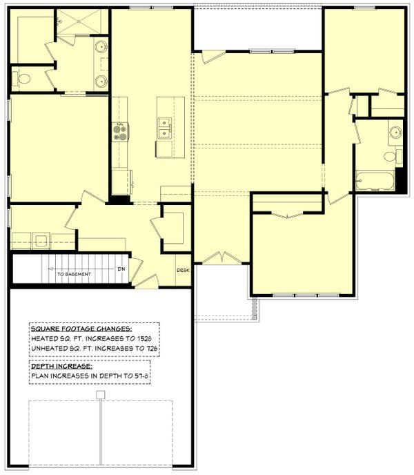 House Plan Design - Optional Basement