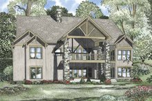 House Plan Design - Traditional Exterior - Rear Elevation Plan #17-3316