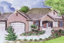 Prairie Exterior - Front Elevation Plan #320-995