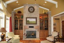European Interior - Family Room Plan #928-190