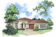 Mediterranean Style House Plan - 2 Beds 2 Baths 1281 Sq/Ft Plan #930-378 Exterior - Front Elevation
